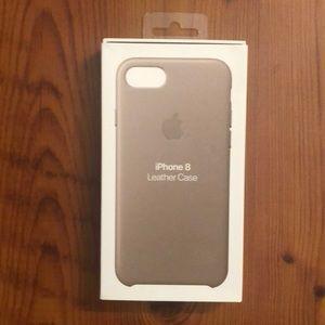 iPhone 8 Tan Leather Case